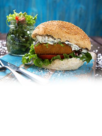 Μπακαλιάρος Burger